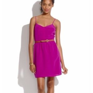 Madewell / 0 / Silk Cami Dress Magenta
